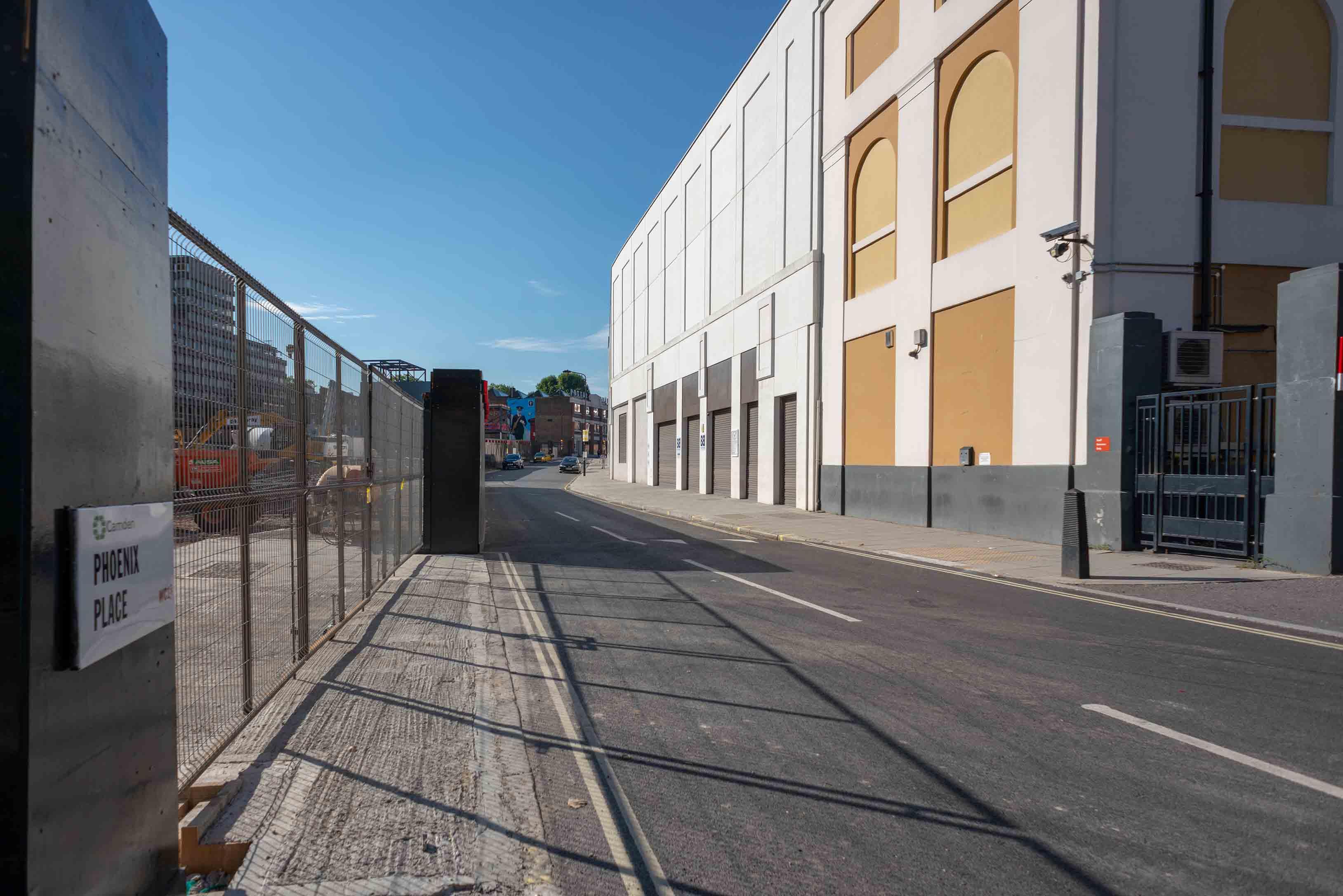 Entrance to Royal Mail Mount Pleasant construction site
