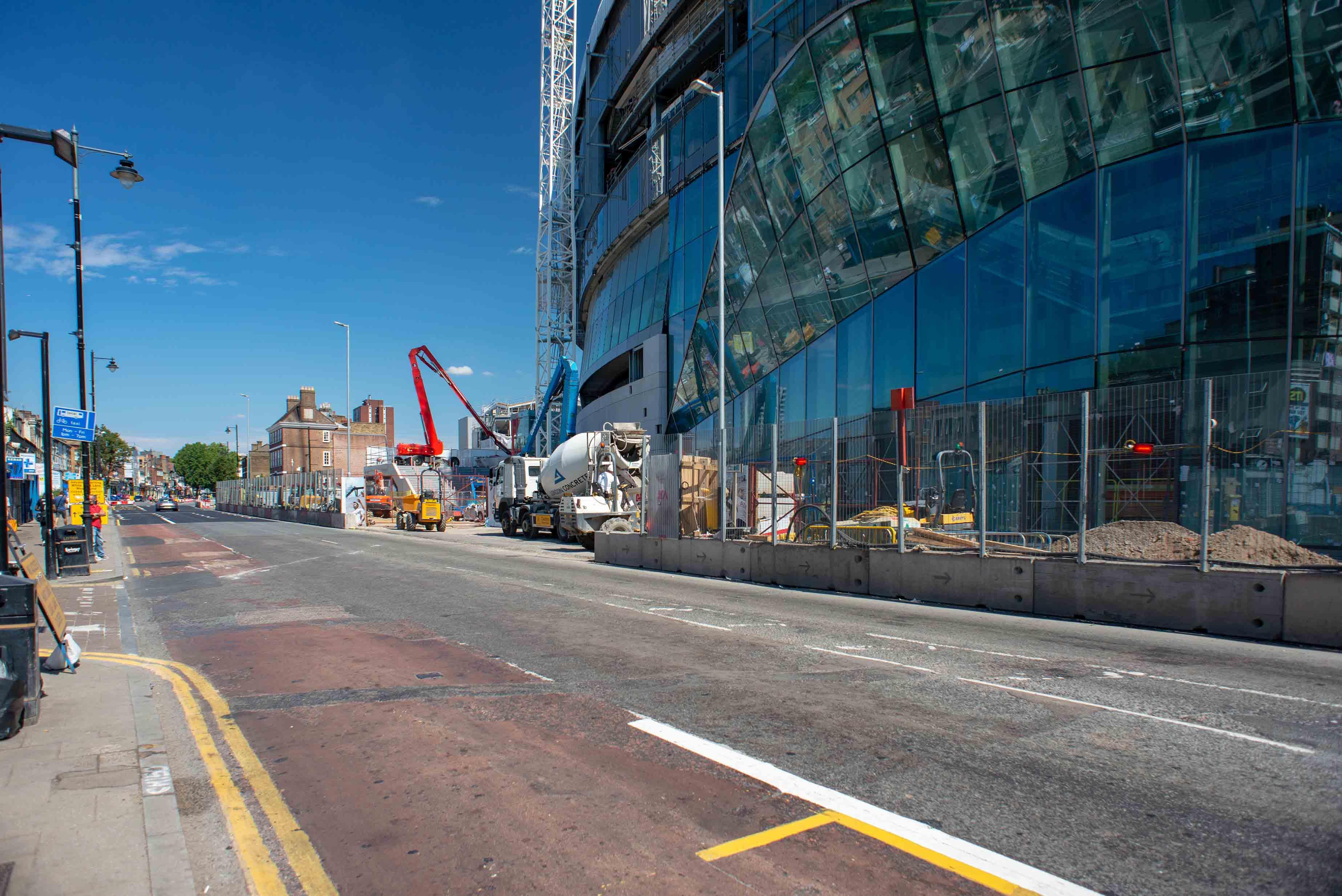 Construction site along-side the White Hart Lane stadium