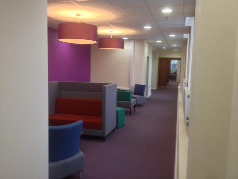 Communal corridor area in Maidenhead Town Hall